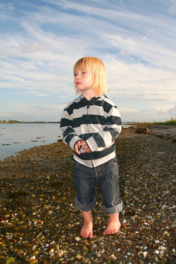 Child sea royalty free stock image