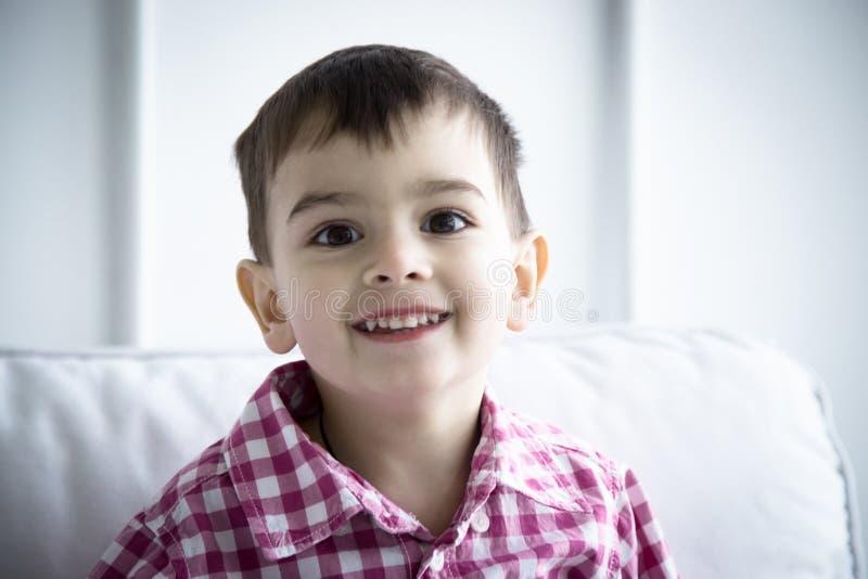 Child in shirt, portrait stock photos