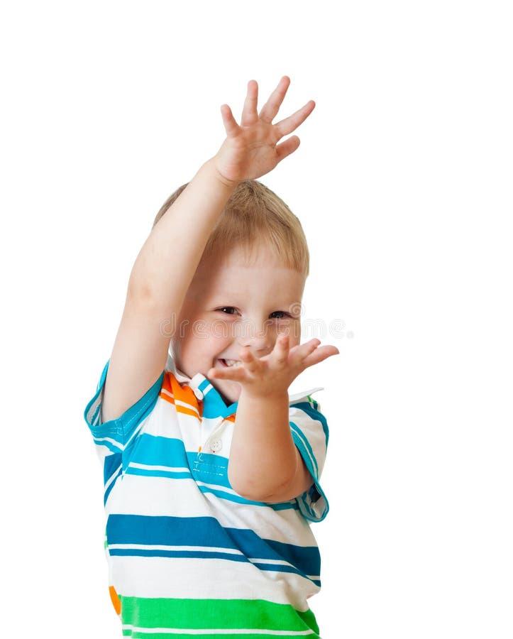 Download Child Showing Something Isolated On White Stock Photo - Image: 26406458