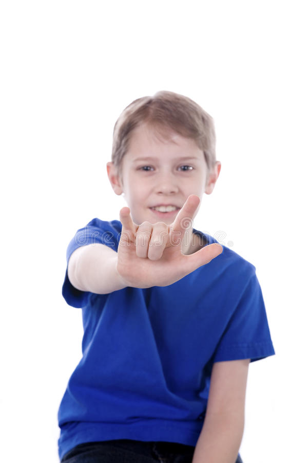 Child Signing I Love You stock photography