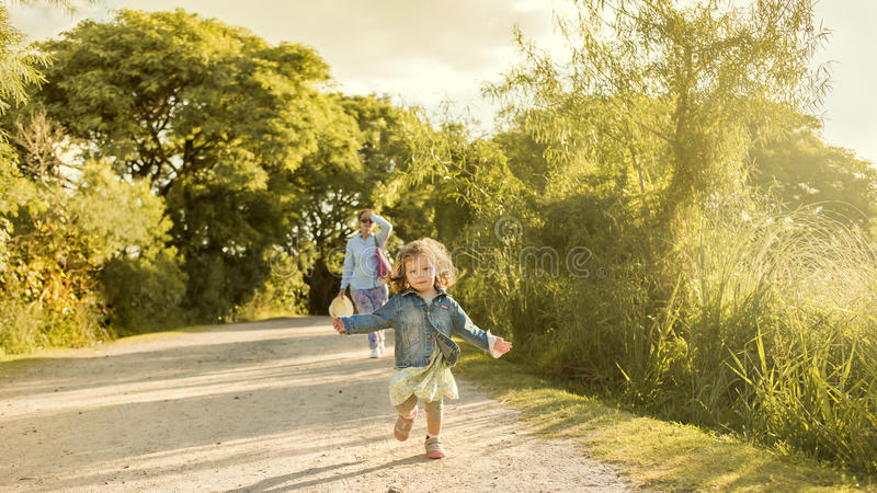 Child and Single Mother. royalty free stock photos