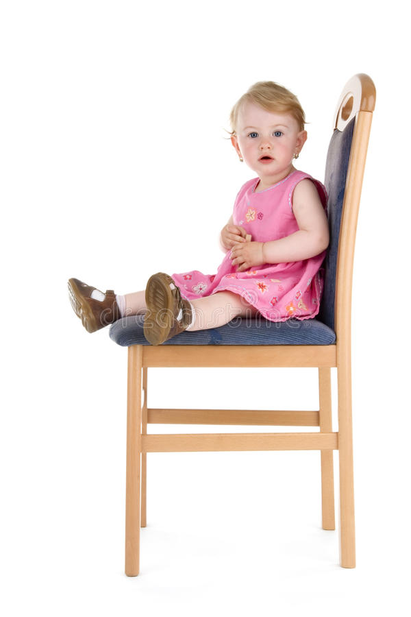 child sit on chair stock photo image of beauty beautiful 15248228. Black Bedroom Furniture Sets. Home Design Ideas