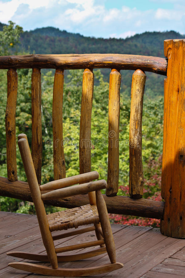 Free Child-size Outdoor Rocking Chair WNC Mountains Stock Photos - 21340813