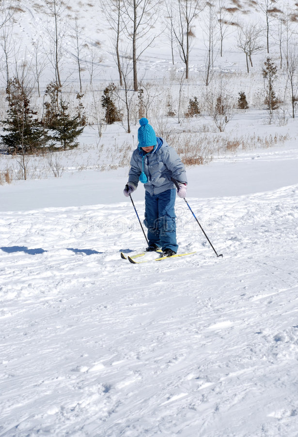 Download Child skiing stock photo. Image of children, girls, cross - 1970586