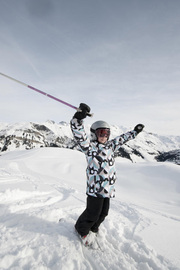 Download Child Skiing, French Alps Stock Photos - Image: 13225613