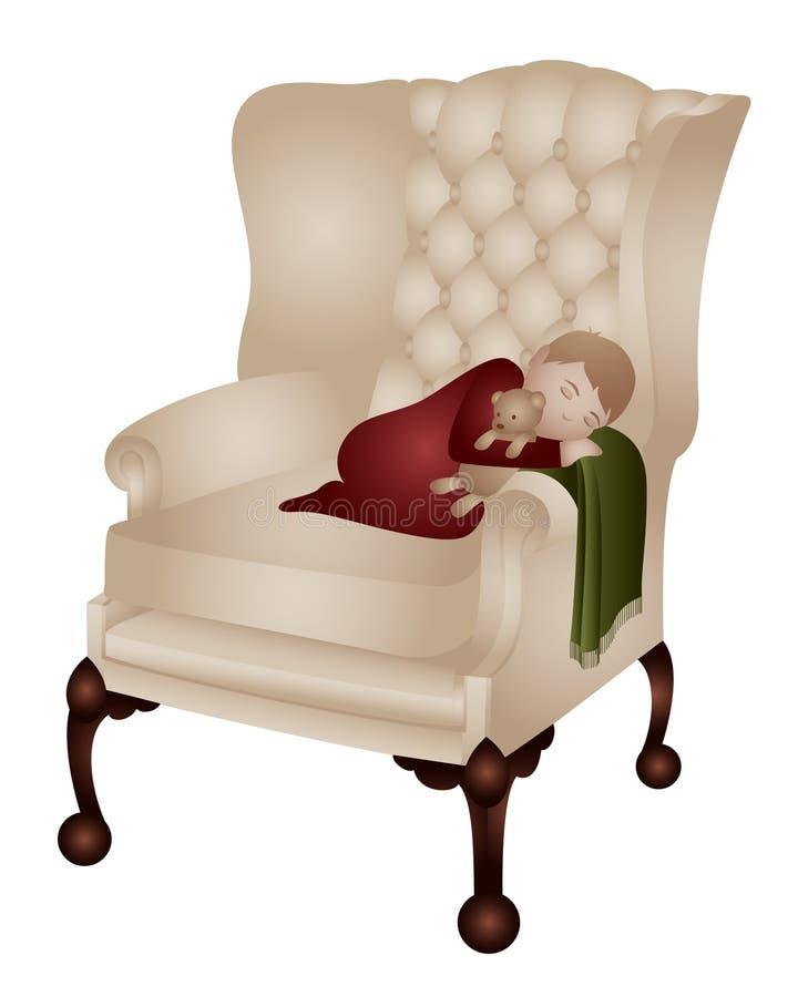 Child sleeping stock illustration