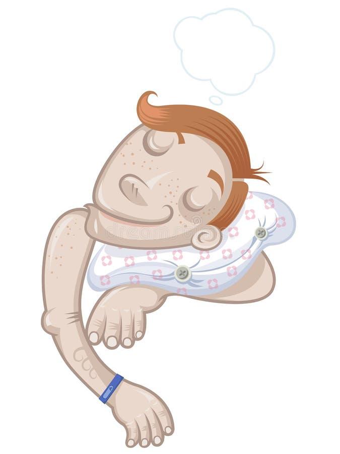 Child sleeping vector illustration