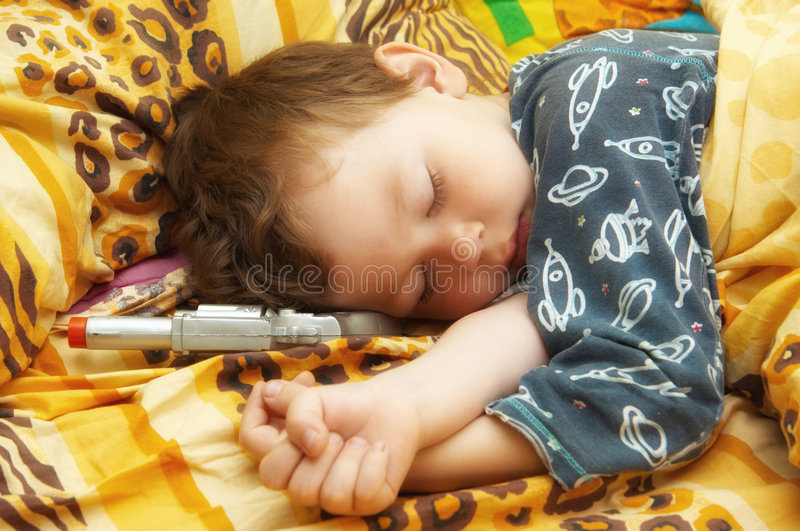 The child sleeps royalty free stock photos