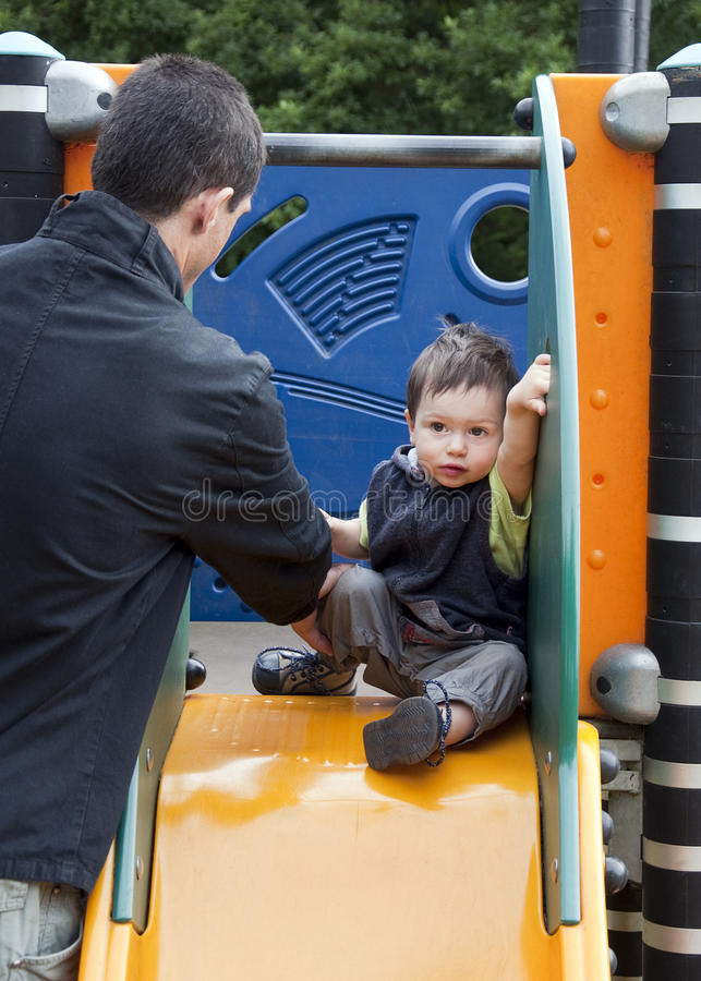 Child On A Slide Royalty Free Stock Photo