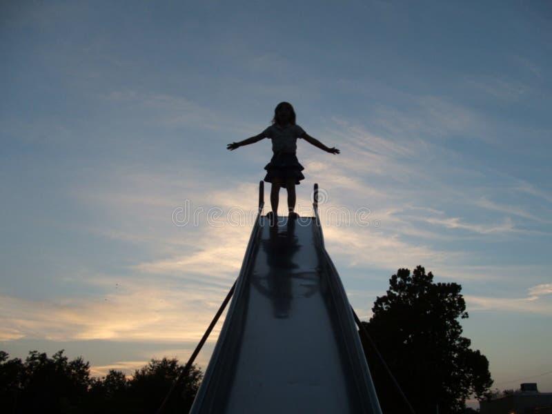 Child Slide royalty free stock photos