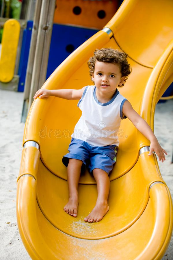 Child On Slide Free Stock Image