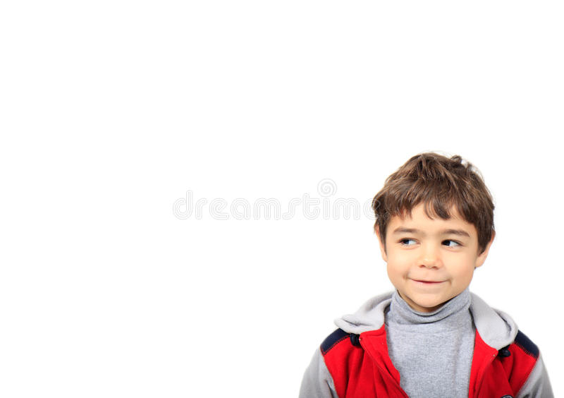Child with the sly look stock photo