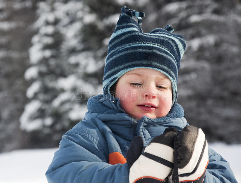 Child In Snow Royalty Free Stock Photography