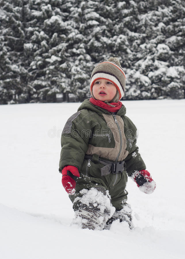Download Child in snow stock photo. Image of white, outdoor, winter - 27156576