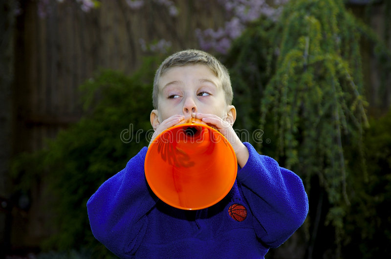 Download Child Sports Fan 3 stock image. Image of team, megaphone - 116589
