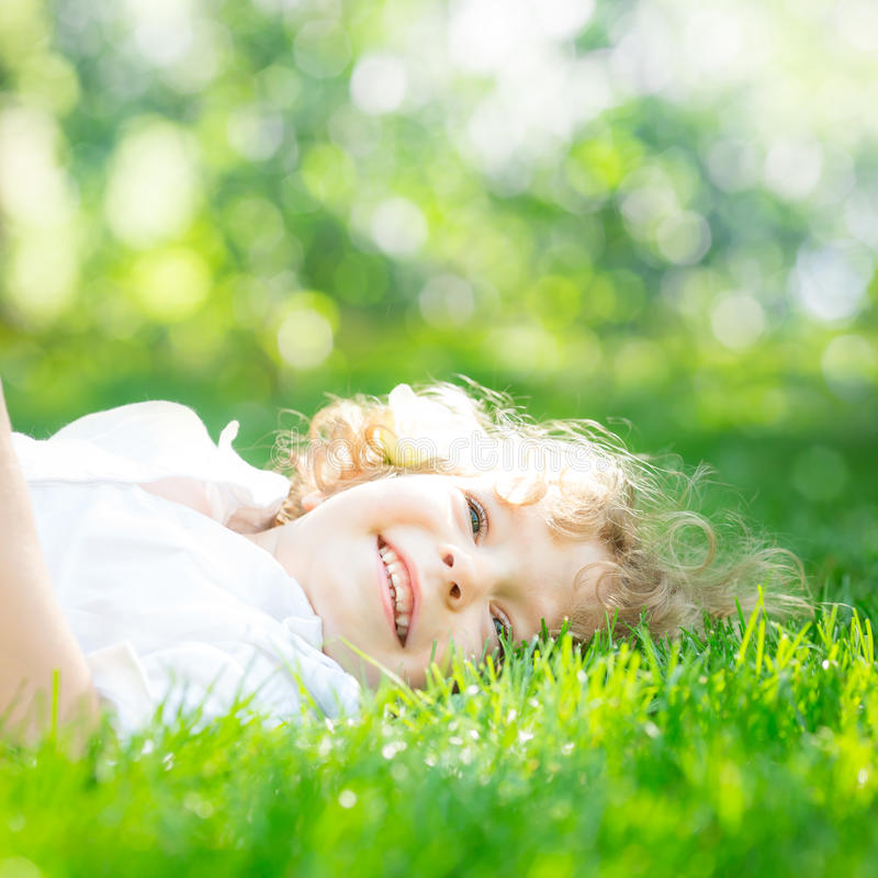 Download Child in spring stock image. Image of grass, park, beautiful - 28895889