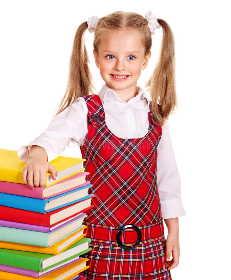 Download Child With Stack Book. Stock Photography - Image: 26060402