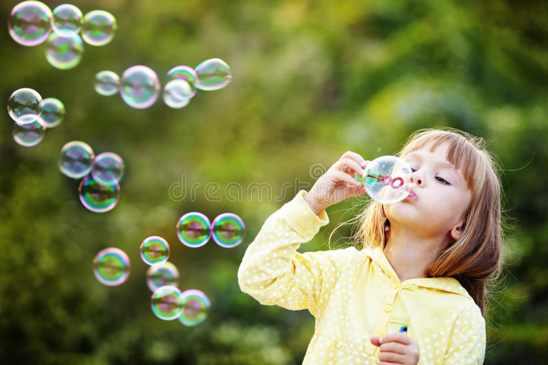 Download Child Starting Soap Bubbles Stock Photo - Image: 16226538