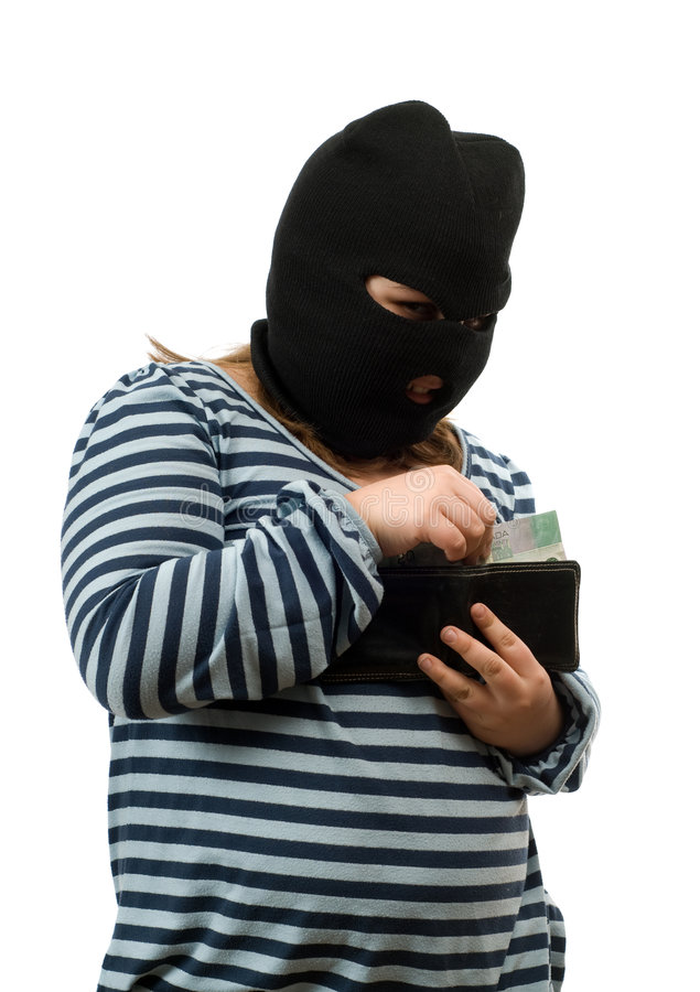 Download Child Stealing Money Concept Royalty Free Stock Photos - Image: 8316228