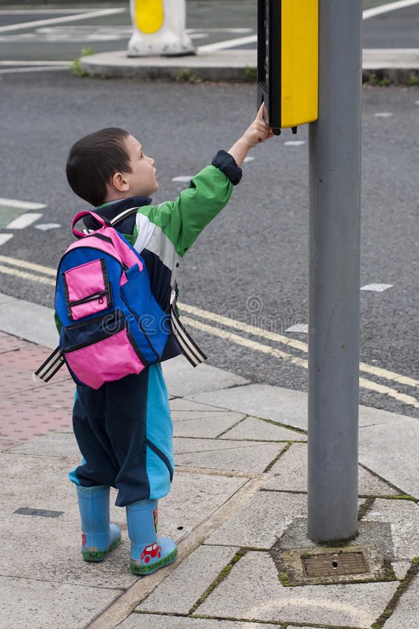 Download Child on the street stock photo. Image of traffic, preschooler - 25805810