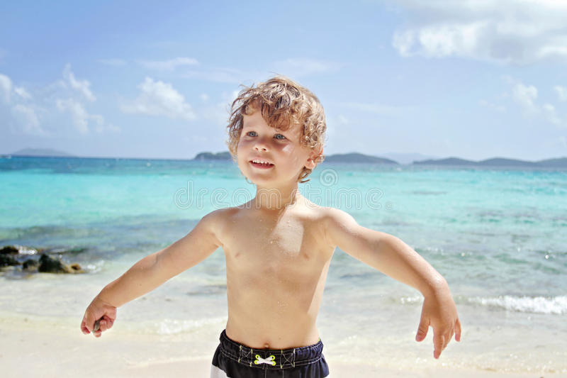 Download Child Summer Beach And Ocean Fun Stock Photo - Image of tropics, thomas: 39542348