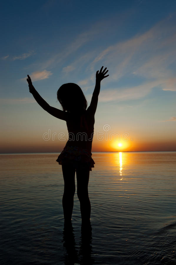 Download Child on sunset beach stock photo. Image of holidays - 20590918