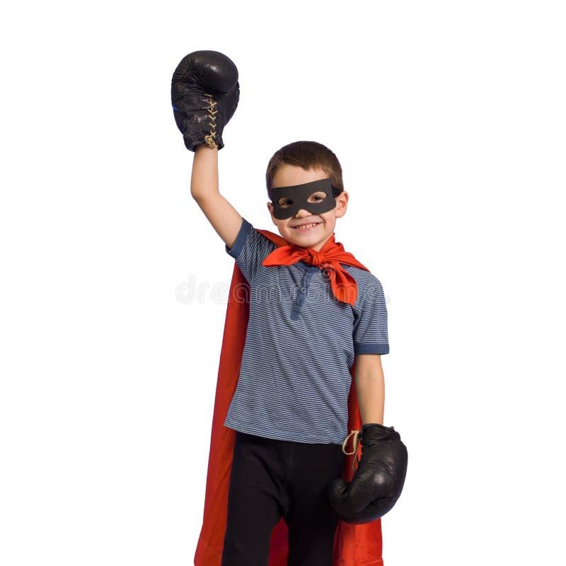 Child superhero stock photo