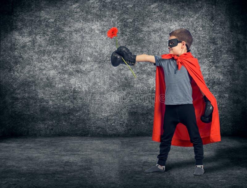 Child superhero stock images