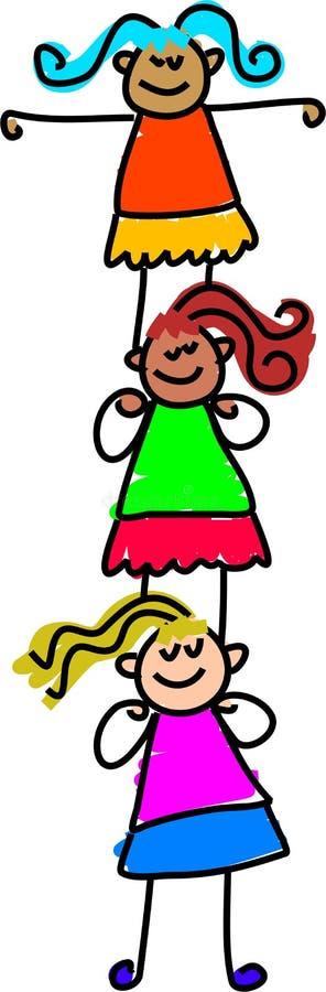 Child support vector illustration