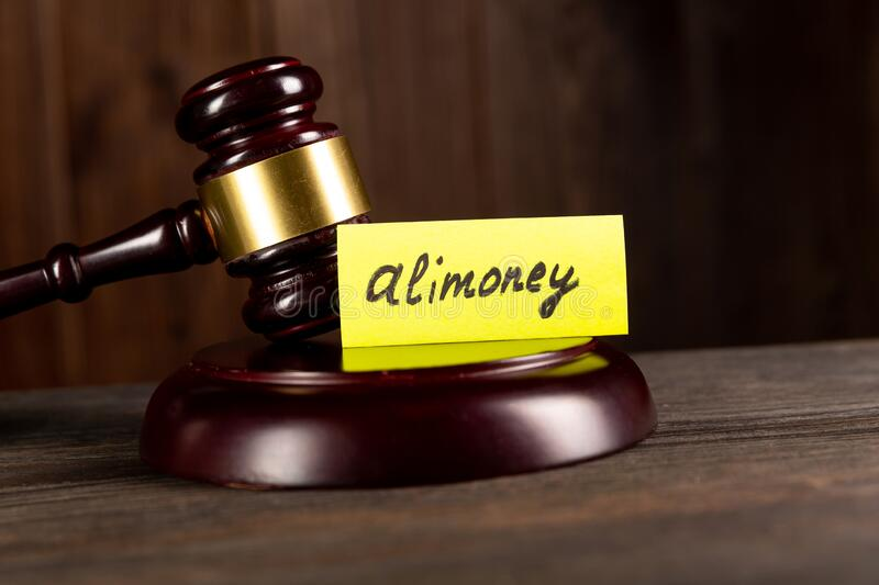 Child support of alimoney. Divorce concept. Alimoney payment. stock image