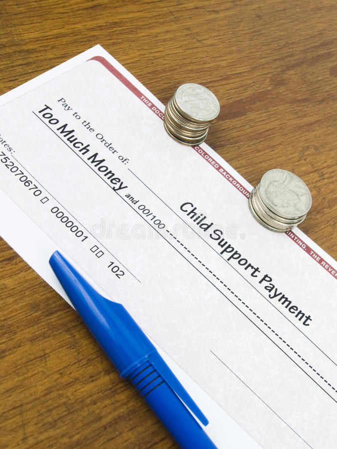 Child Support Payment Check royalty free stock photo