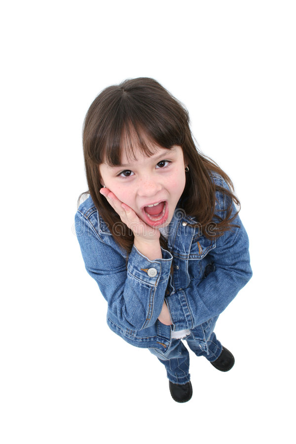Child with Surprised Expression stock image