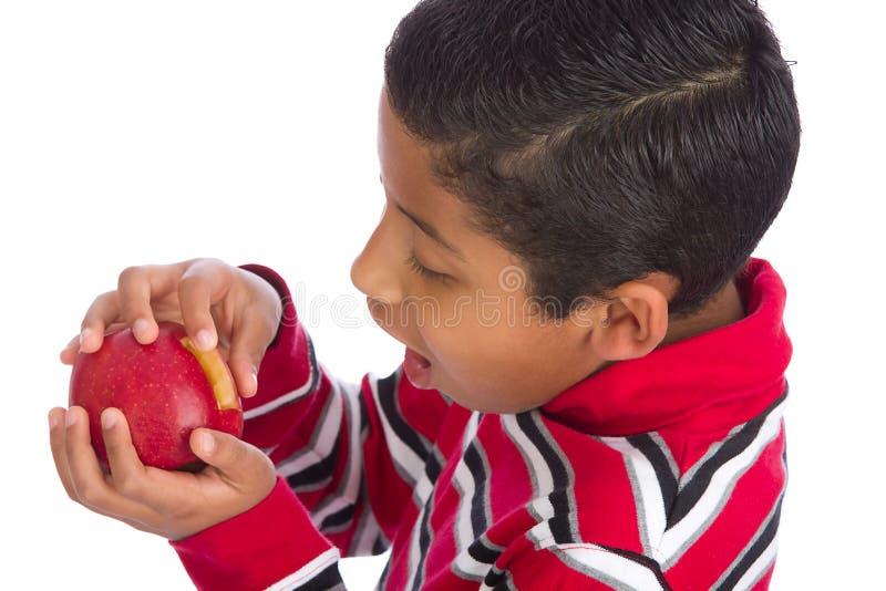 Download Child Surprised Opening Apple Door Stock Photo - Image: 21819900