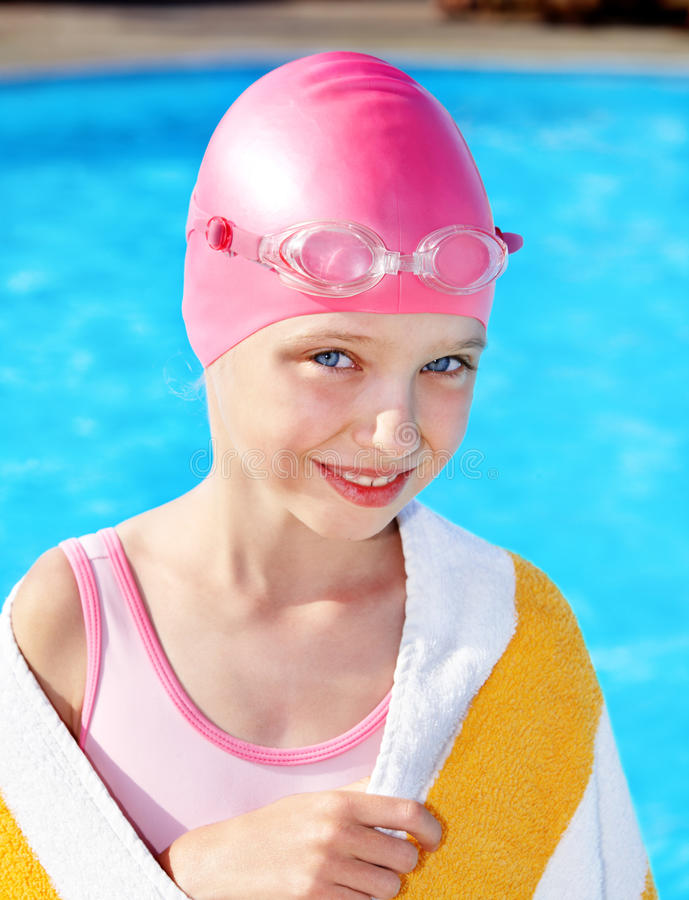 Download Child swimming in pool. stock photo. Image of people - 19972096
