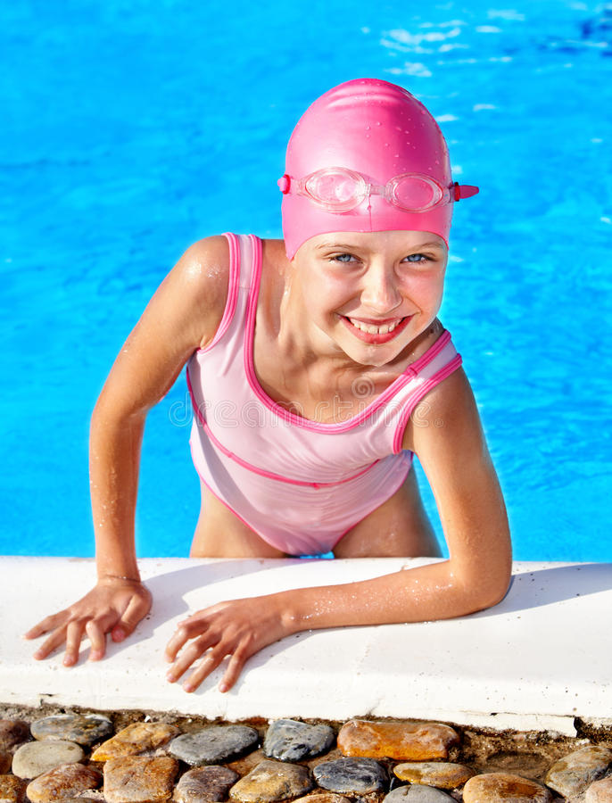 Download Child swimming in pool. stock image. Image of pool, glasses - 20314337