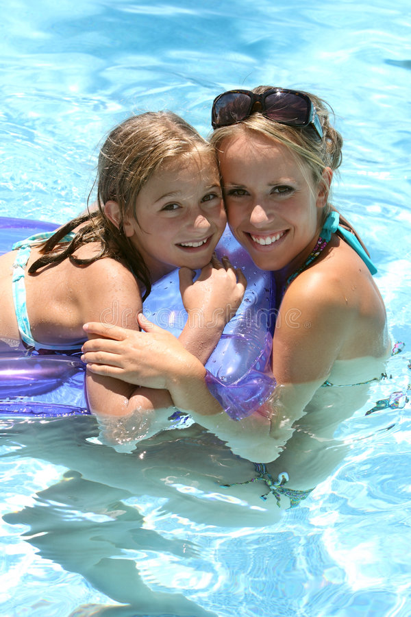 Download Child swimming pool stock image. Image of family, emotions - 4735607