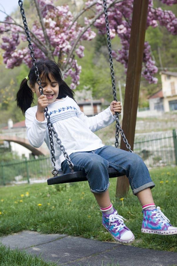 Download Child on swing stock photo. Image of joyful, innocent - 19313360