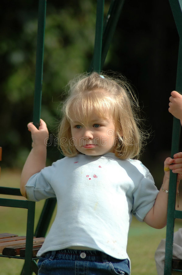 Download Child on swing stock photo. Image of have, expression - 2715656
