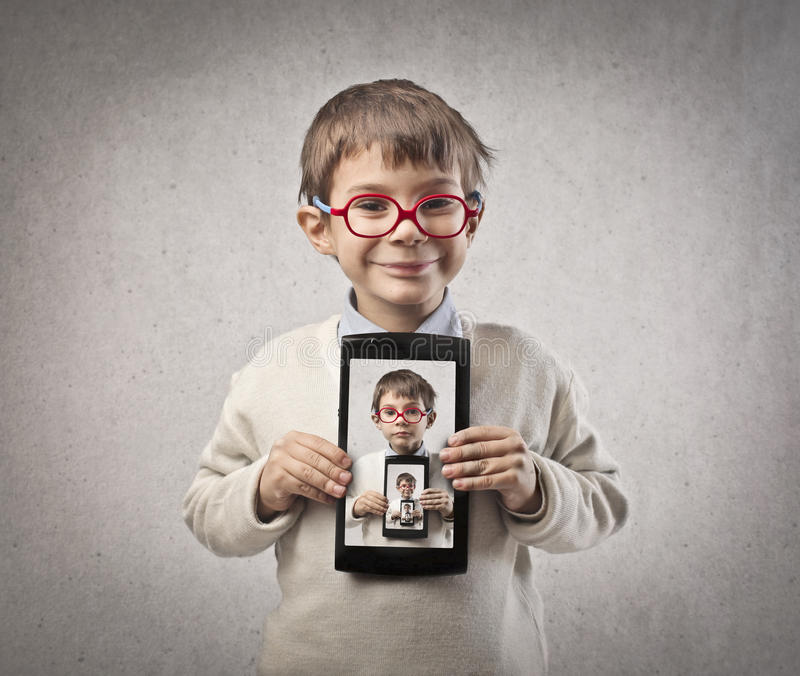 Download Child Tablet stock image. Image of face, child, screen - 28247917