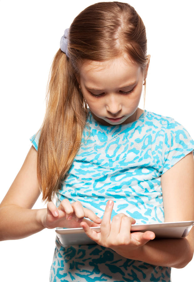 Download Child with a Tablet PC stock image. Image of holding - 28712573