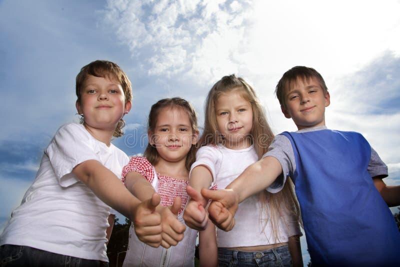 Child team royalty free stock image