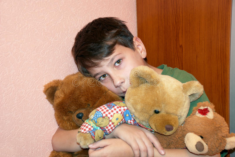 Child With Teddy Bears Royalty Free Stock Images