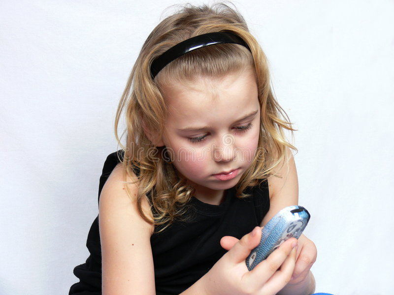 Download Child is texting stock image. Image of model, children - 4636453