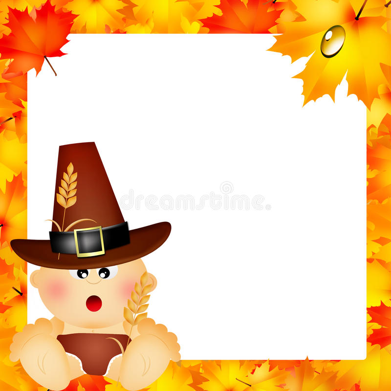 Download Child for Thanksgiving stock illustration. Image of greeting - 35400077