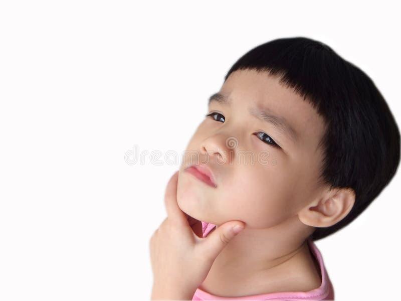Child thinking royalty free stock photos