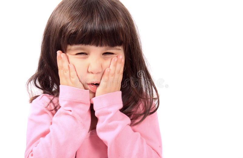Child with toothache stock images