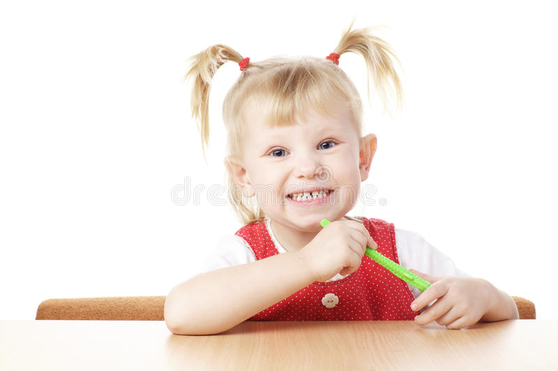 Download Child with toothbrush stock photo. Image of brush, little - 13702732