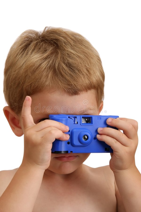 Download Child and Toy Camera stock photo. Image of blue, holding - 8798624