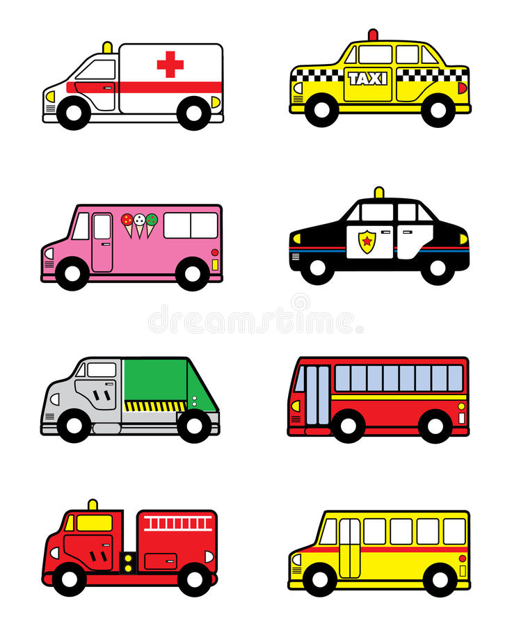 Child Toy Vehicles vector illustration