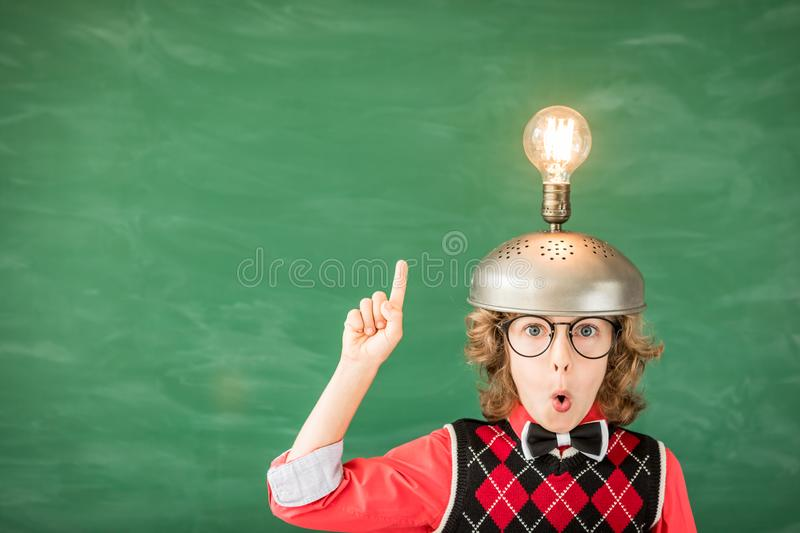Child with toy virtual reality headset royalty free stock photos
